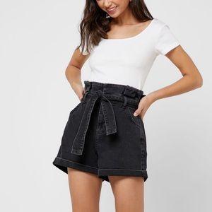 Topshop paper bag high waist shorts